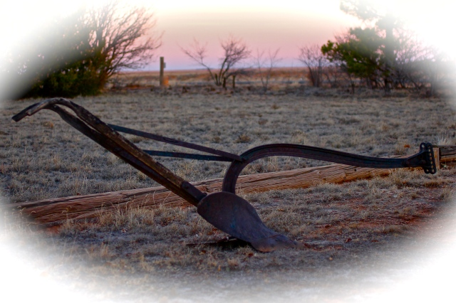 Horse Drawn Turning Plow http://whyilovewesttexas.com/2012/12/03/the-plow-that-started-it-all/